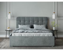 """Кровать """"Nola"""", микрофибра 2 кат., GALAXY asphalt/кант GALAXY grey"""